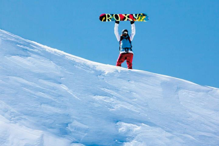 Snowboard Robin Van Gyn is on top of the world in Patagonia