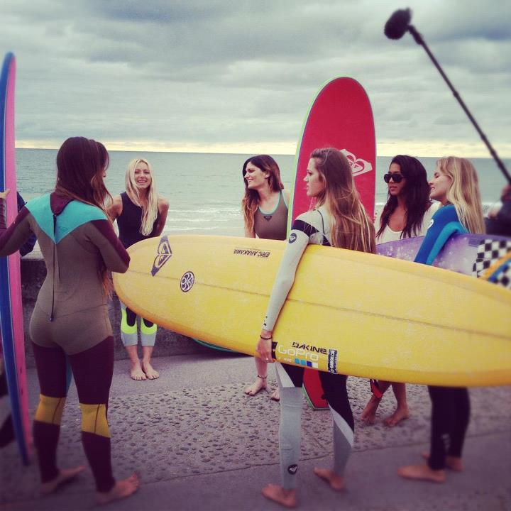 Surf A quick surf sesh in Biarritz with their new #KassiaMeadorWetsuits yewww http://bit.ly/LMzwhT