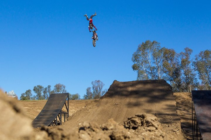 Motorsports PHOTO OF THE DAY: Derek Garland riding the Metal Mulisha Compound this morning. Make sure to visit www.metalmulisha.com for the full photo update tomorrow morning.