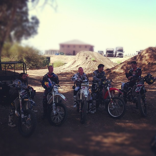 Motorsports Finished up a riding session at the Metal Mulisha Compound. Video coming soon! Any trick request...?  @jfitzo @wesagee @kennytacobell @ronniefaisst @victory38  all riding the #metalmulisha compound this morning for a video update. @msr_mx @rockstar_energy