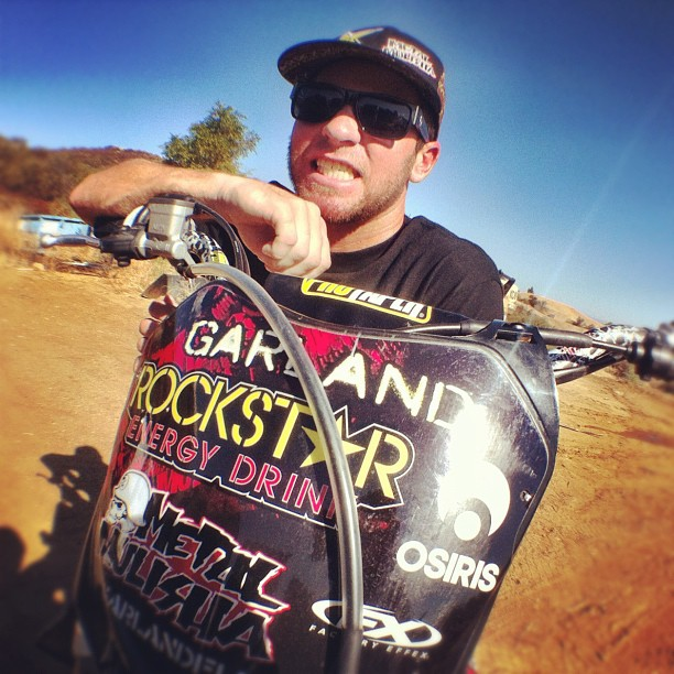 Motorsports @g_land_mm at @toddpotter1 Compound for a morning ride session. @rockstar_energy @osirisshoes  http://instagr.am/p/QFfuZ1CEUT/