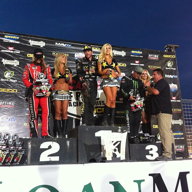 Motorsports @toddleduc took the podium in 1st place at tonight @lucasoiloffroad race in his Pro 4 . Congrats Todd! #metalmulisha @rockstar_energy  http://instagr.am/p/P5nCE4CEU0/