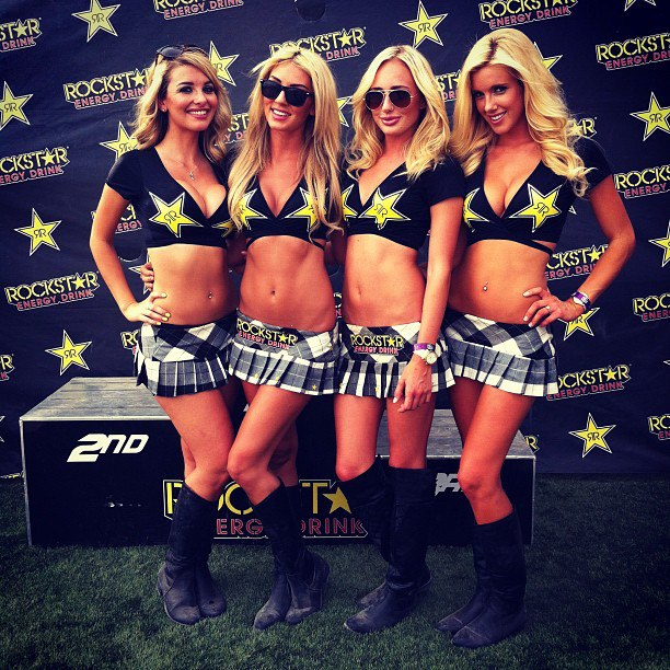 Motorsports At the @loorrs with the @rockstar_energy drink babes for today's last race. Anyone coming out ?   @hannybananny @jordandaniele @emilysears @jessharbour http://instagr.am/p/P5Xks-iEU7/