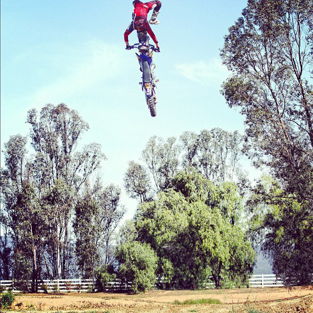 BMX @dunne780 throwing down at the #metalmulisha compound. photo: @divelsquawks @rockstar_energy  http://instagr.am/p/P446VKiEXB/