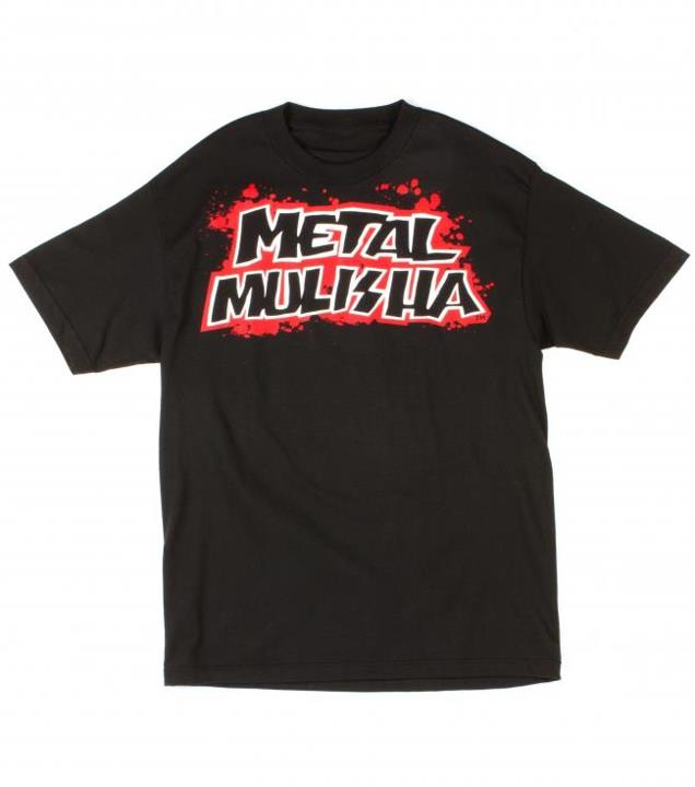 Motorsports BLOOD SHED TEE Style #: M135S18112 $24.00 Metal Mulisha Mens tee. 100% Cotton. http://www.metalmulisha.com/shop/clothing/mens/blood-shed-tee/ Screenprint