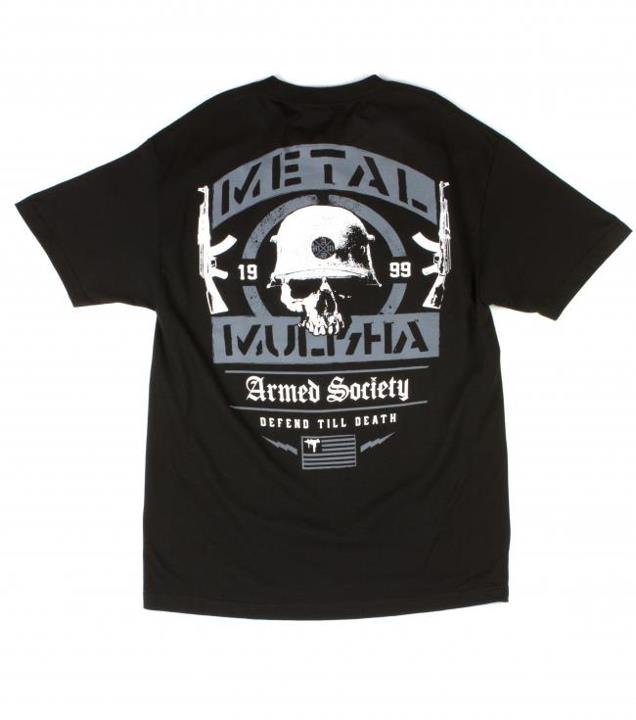 Motorsports ARMED SOCIETY ENEMY TEE Style #: M135S18145 $24.00 Metal Mulisha Armed Society Mens tee. 100% Cotton. Screenprint. http://www.metalmulisha.com/shop/clothing/mens/armed-society-enemy-tee/