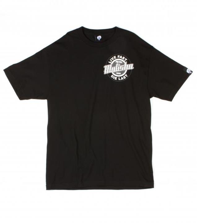 Motorsports GRIND TEE Style #: M135S18131 $24.00 Metal Mulisha Mens tee. 100% Cotton. Screenprint.  http://www.metalmulisha.com/shop/clothing/mens/grind-tee/