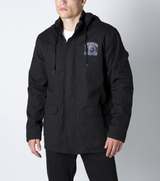 Motorsports SUSTAIN JACKET Style #: M42502400 $99.00 Metal Mulisha mens hooded parka jacket with military patch pockets at bottom, angled pockets at the chest and jacquarded patches at chest and right sleeve. http://www.metalmulisha.com/shop/clothing/mens/jackets/sus