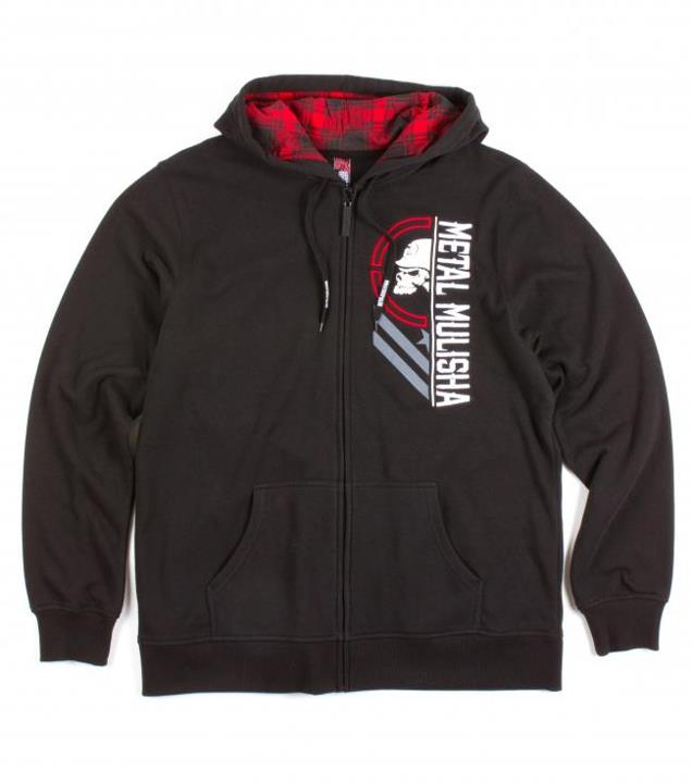 Motorsports UNAVAILABLE HOODIE Style #: M13510102 $62.00 Metal Mulisha mens zip front hoodie with plaid logo printed hood lining and logo embroidery and screen art. http://www.metalmulisha.com/shop/clothing/mens/unavailable-hoodie/