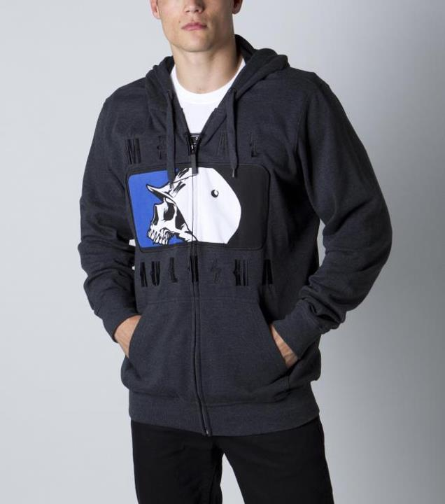 Motorsports CAPITALIZED HOODIE Style #: M42510402 $65.00 Metal Mulisha mens zip front hoodie with front embroidery art. http://www.metalmulisha.com/shop/clothing/mens/capitalized-hoodie/
