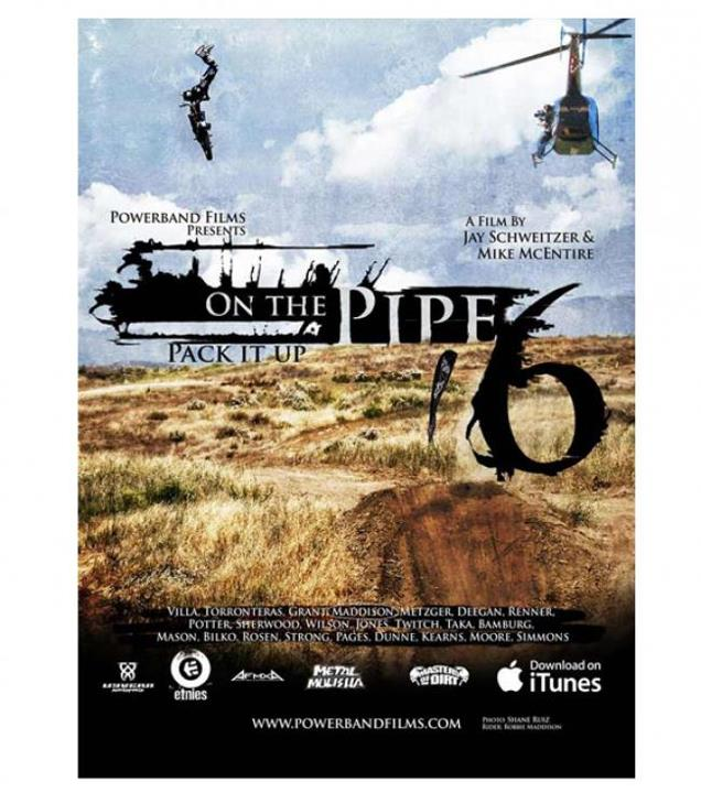 Motorsports ON THE PIPE 6 - DVD Style #: M41586400 Was $29.95 Now $21.99 On the Pipe 6 DVD http://www.metalmulisha.com/shop/clothing/sale/mens-axs/on-the-pipe-6-dvd/