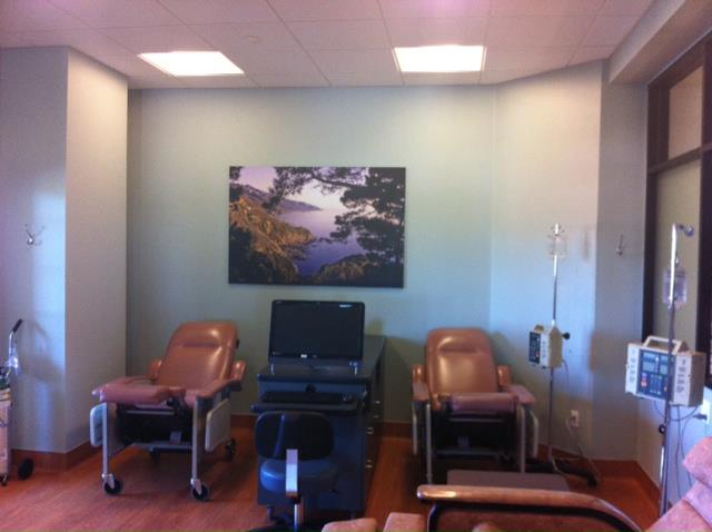 Entertainment chemo treatment rooms