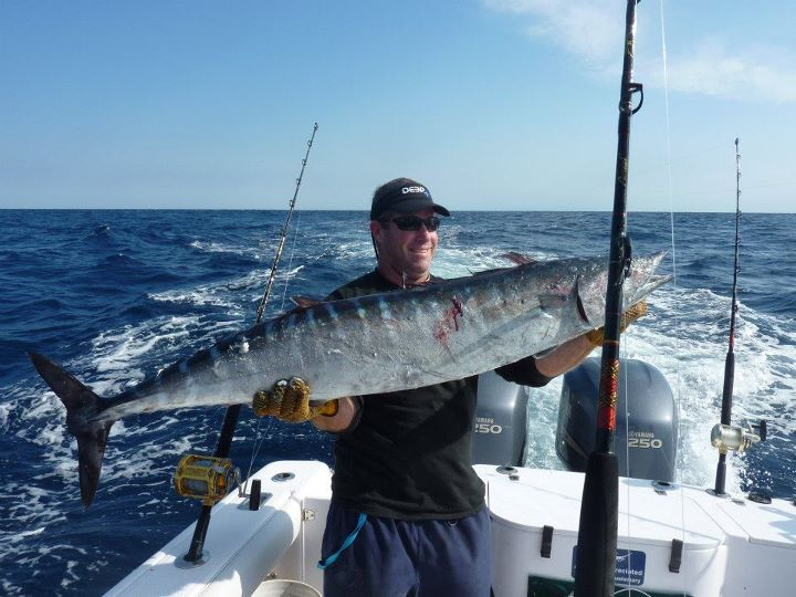 Fishing Deep Ocean Apparel affiliate Cap. Cushman from Calmwater Charters in Myrtle Beach SC with a nice wahoo!