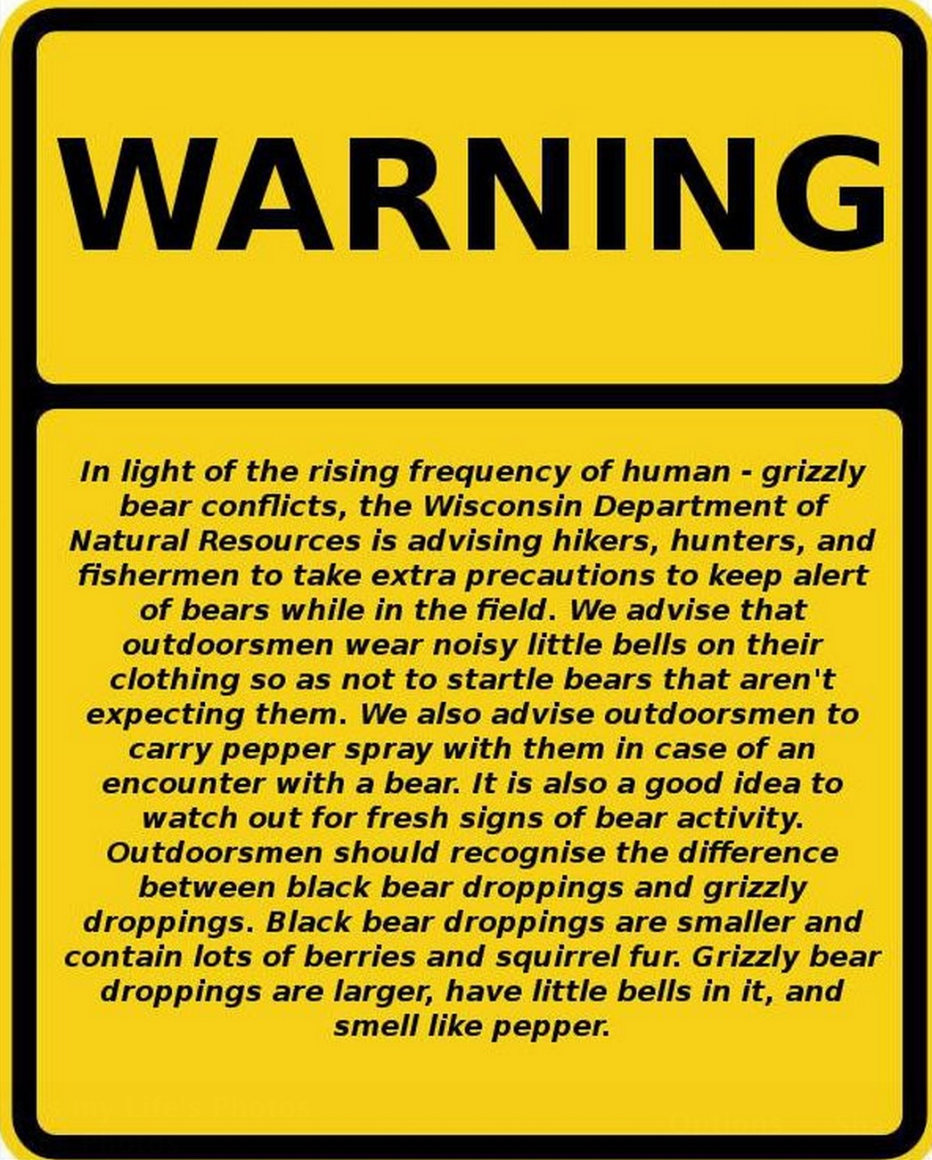 Camp and Hike WARNING
