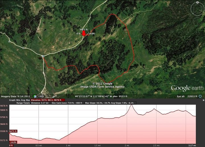 Camp and Hike One of the most scenic runs on the course gradual up hill trail in the tops of the mountains short run but at nearly 10000 you will feel it