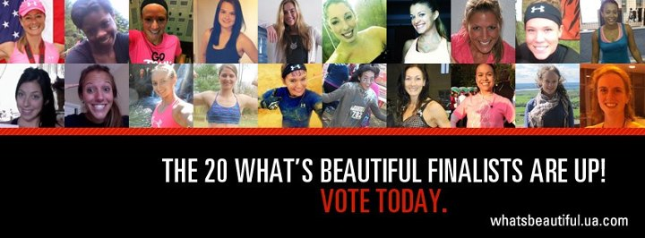 Fitness Congratulations to the 20 finalists in this phase of the What's Beautiful competition! They've really shown us their strength, determination and sweat. Cast your vote for the athlete most deserving of a spot at UA's Camp Sweat in Florida. http://whatsbeau