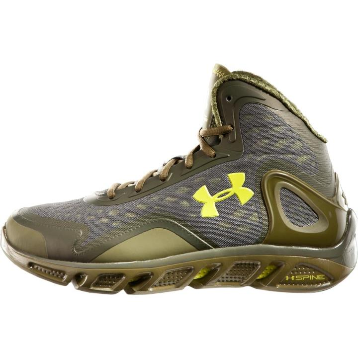 Sports Special Edition Wounded Warrior Project UA Spine Bionic Basketball Shoes.  Makes you play superhuman.