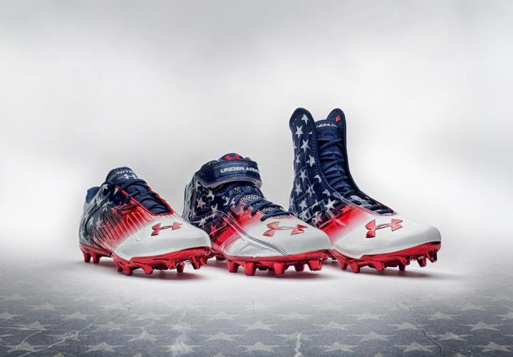 Sports Hawai'i Wounded Warrior Project UA Football Cleats   Under Armour is proud to honor those who have served or are currently serving our country. Hawai'i, This Is Your Armour.  Shop Under Armour Freedom here: http://bit.ly/UWHh8B