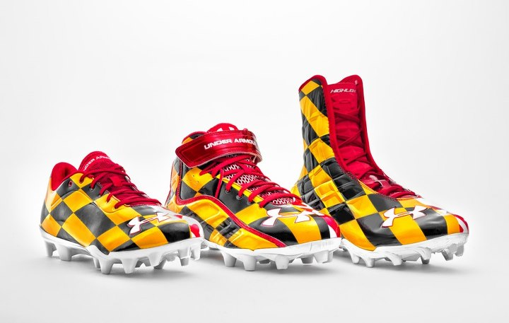 Sports Special Under Armour University of Maryland Pride Football Cleats