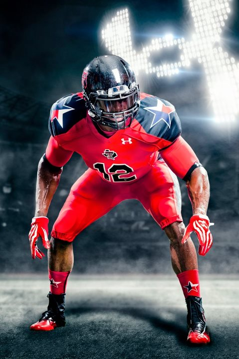 Sports Texas Tech Lone Star Pride UA Football Uniform  This is more than just a uniform… It's ARMOUR built with years of TEXAS TECH PRIDE and football heritage woven into its design and innovation to make the RED RAIDERS faster, lighter, and ready to battle for