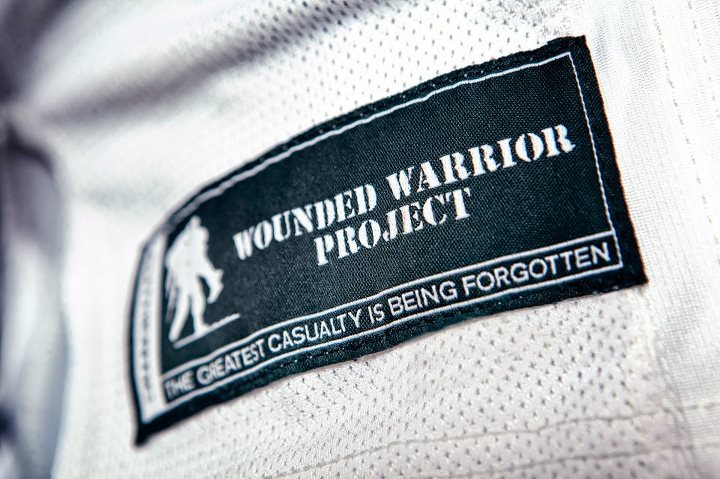 Sports Boston College Wounded Warrior Project UA Football Uniform   Under Armour is proud to honor those who have served or are currently serving our country. Boston College, This Is Your Armour.  Give a UA backpack to a Wounded Warrior Hero here: http://bit.ly/