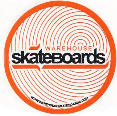 Skateboard Orange Circles