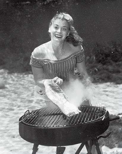 Scuba Today we've got this cool image from Bruce Mozertom, one of the pioneers of underwater photography. This image is from 1938, yes, really! Oh, and don't forget to get the grill out...!