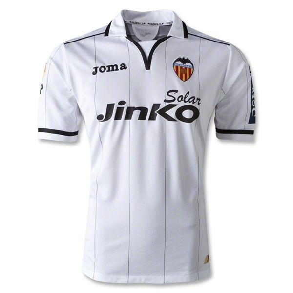 Entertainment Mens Valencia Home Soccer Jersey 12/13