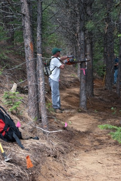 Camp and Hike Altrec Outdoor Staff maintaining trails