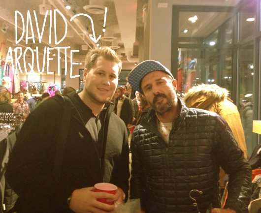 Entertainment Someone sent me this pic of David Arquette at our new Moosejaw Detroit shop. I wasn't sure which one was David, so I just guessed. Now read this post that I've been  working on all afternoon: http://bit.ly/MJblogpost