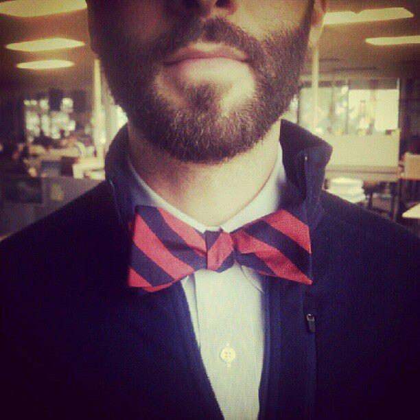 Entertainment Blair wore his bow tie upside-down today. So embarrassing.