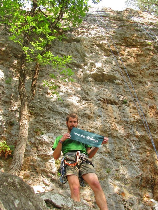 Climbing When Rob sent me this picture he ended his email with a PS Sorry for my super pale thighs.