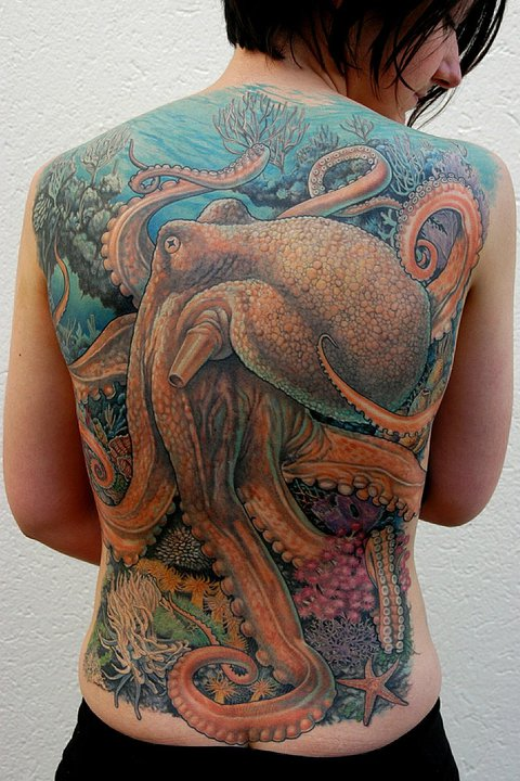Scuba The work of marine-life tattoo artist Deano Cook.