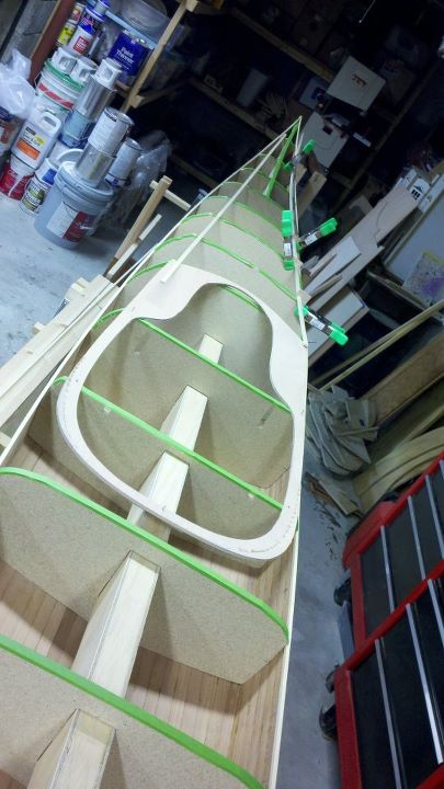 Kayak and Canoe I'm also working on a Petrel. Recess laid in, now to lay out the deck pattern