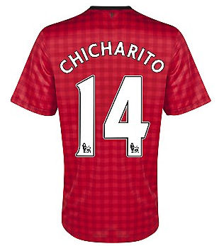 Sports Chicharito Manchester United Home Soccer Jersey 2012/2013