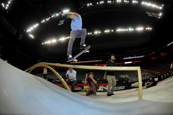 Skateboard Nyjah Huston - Street League Practice - New Jersey