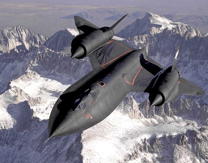 Guns and Military Lockheed SR-71 Blackbird has held the world record for the fastest 'air-breathing manned aircraft' with a recorded speed of 1,905.81 knots (2,193.2 mph; 3,529.6 km/h).