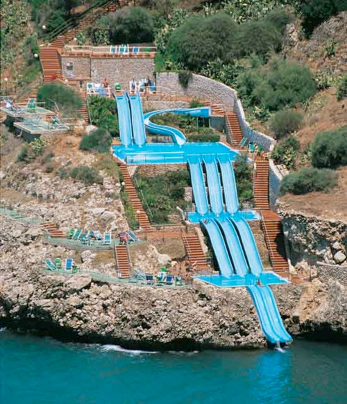 Wake Cita Del Mare - Hotel in Sicily, Italy.  Slide right into the Mediterranean Sea