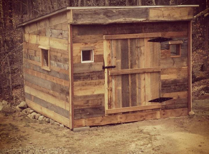 Entertainment This week's #handmadeholiday winner goes out to Rion for his repurposed barn board shed, made for his dad's Christmas present. 