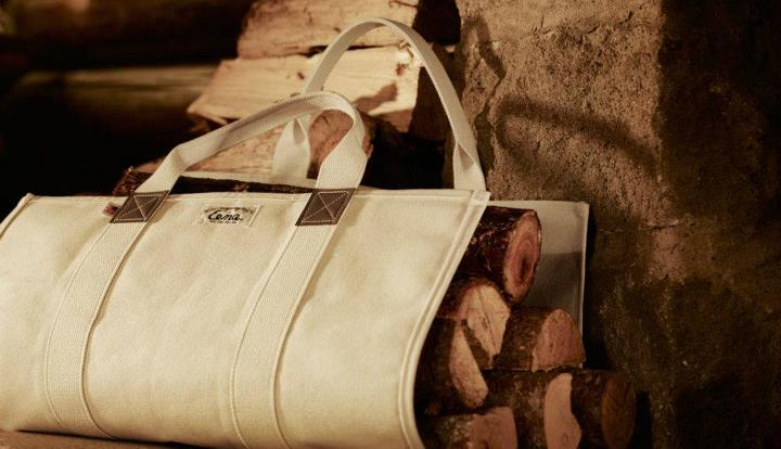 Entertainment Beckel Canvas Log Carrier - A very handy rig for keeping dirt and bark off you and the rug.