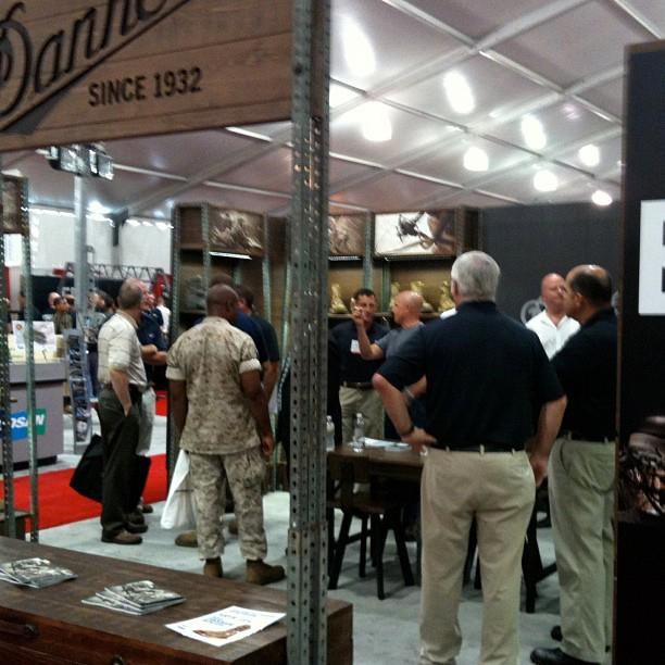 Entertainment Danner Booth at the Modern Day Marine Expo.
