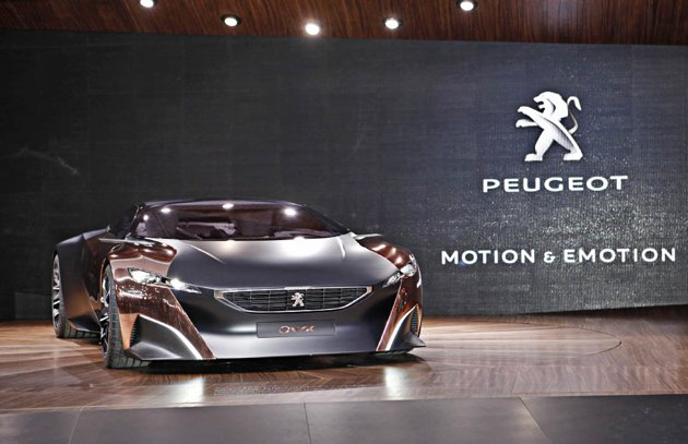 Auto and Cycle Peugeot Onyx Concept at the 2012 Paris Motor Show