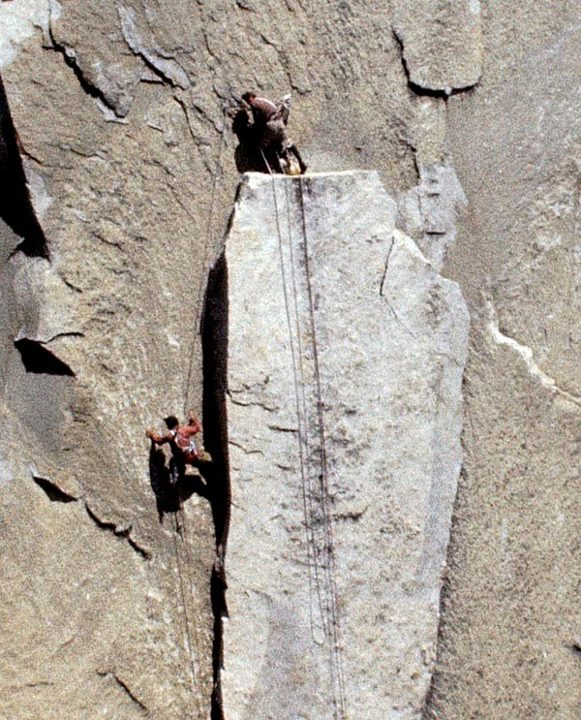 Climbing Opportunity to help digitally restore El Capitan (1968), one of the finest climbing films ever made. Photo is one of the restored frames with Richard McCracken lowering Lito Tejada-Flores down the Boot Flake. Kickstarter info here: http://www.kickstarter.