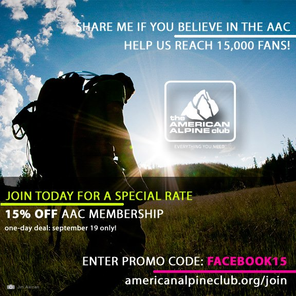 Entertainment Now's a great time to join the The American Alpine Club. Please share with your friends.