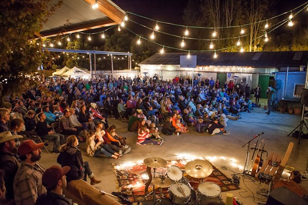 Entertainment Full house under the stars, the lights and a few heaters. Photo: Jeff Johnson