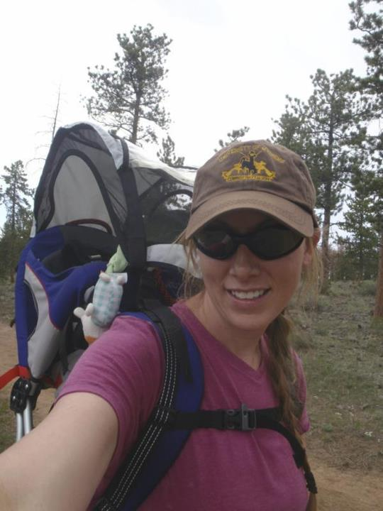 Camp and Hike @rebeccastrails #becauseilove climbing mountains with my baby strapped to my back.