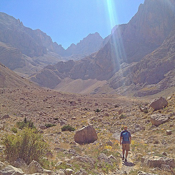 Camp and Hike @jthesenga in the spotlight. Exploring in the Emli Vadasi for new route potential. --Brittany
