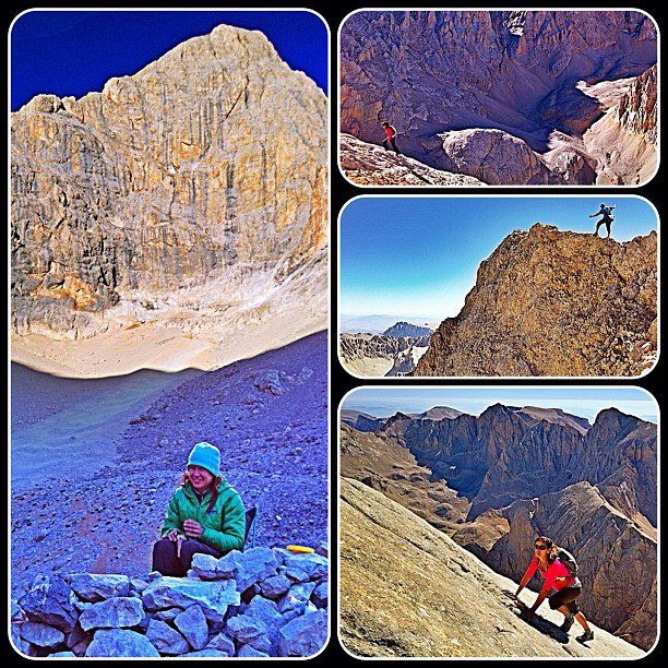 Camp and Hike A classic couple of days in the Ala Dag. The only other places I've been to with this kind of vertical is the Tetons and Chamonix (without the telepheriques, of course...). After a four-hour hike and spectacular alpine bivy, today we climbed the east ridg