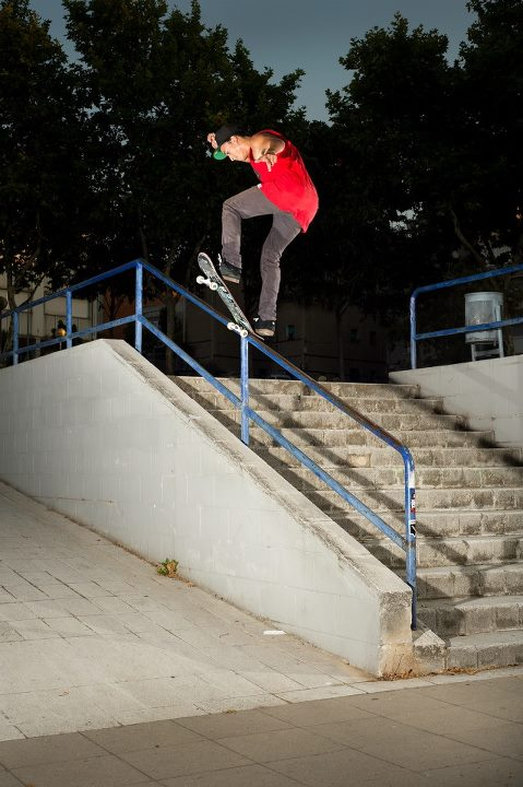 Skateboard Happy Birthday Nyjah Huston! We hope it's a great one. Switch front blunt in Barcelona.