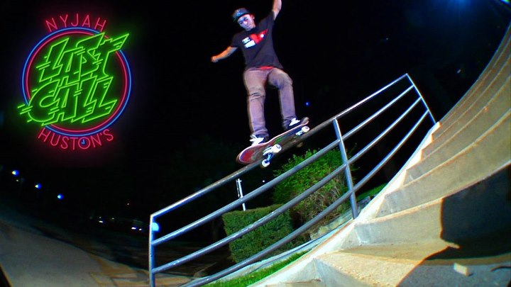 "Skateboard DC's Nyjah Huston just dropped 60 seconds of gnarly footage in this new ""Last Call"" edit on the Thrasher Magazine site. Check it out and get your mind blown at http://bit.ly/X1FiQC"
